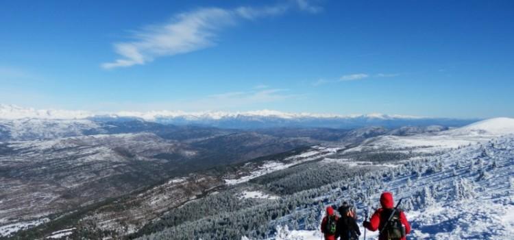 Ascenso a Guara con Nieve.