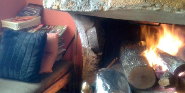 hogar fuego Casa Ortas Sierra de Guara Nocito